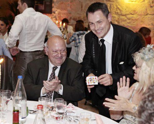 Magicien mentaliste, pickpocket mariage, diner de gala